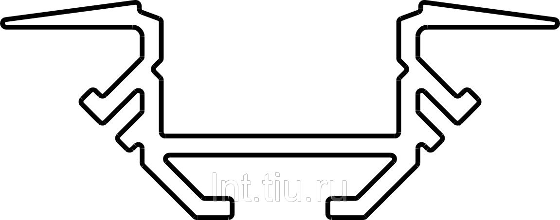 Профиль для светодиодной ленты AL-V анодир. 6м