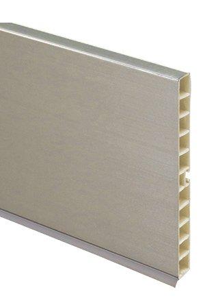 Цоколь кухонный ТИТАН (алюминий шлифованный) 100мм L=4м