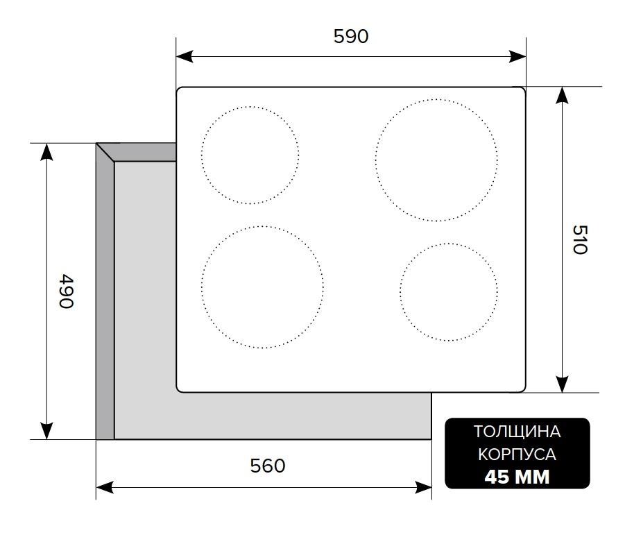 Электрическая варочная поверхность LEX EVE 640 IV Light (Белый Антик)