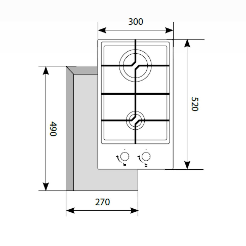 Газовая варочная поверхность LEX GVG 321 WH