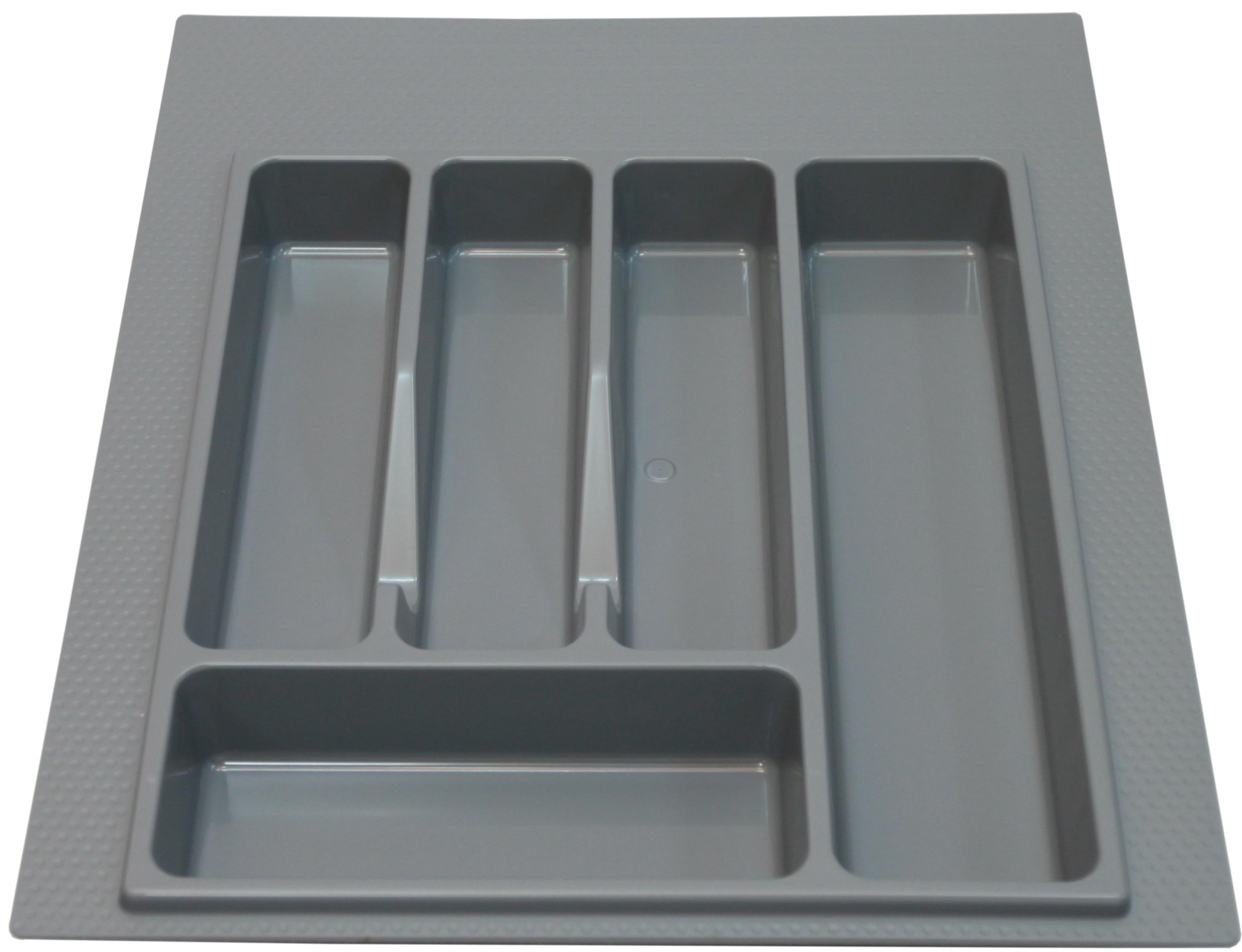Лоток для столовых приборов 400-450мм серый